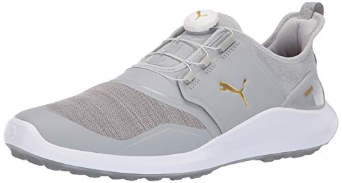 Puma Golf Men's Ignite Nxt Disc Golf Shoe, high Rise Team Gold-Puma White