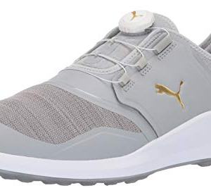 Puma Golf Men's Ignite Nxt Disc Golf Shoe, high Rise Team Gold-Puma White