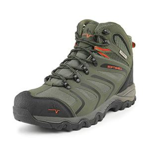 NORTIV 8 Men's Olive Green Black Orange Ankle High Waterproof