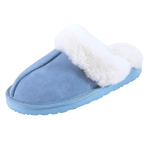 SLPR Women's Sheepskin Fernie Slipper, Blue