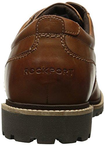 Rockport Men's Marshall Plain Toe Oxford Cognac Leather Rockport Men's Marshall Plain Toe Oxford Cognac Leather, 11 W US, 11 W US