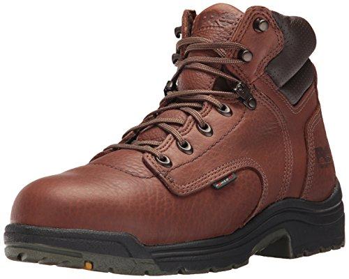"Timberland PRO Men's Titan 6"" Safety Toe Work Boot,Brown/Brown"