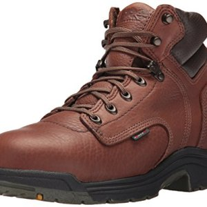 "Timberland PRO Men's Titan 6"" Safety Toe Work Boot,Brown/Brown"