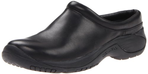 Merrell Men's Encore Gust Slip-On Shoe,Smooth Black Leather