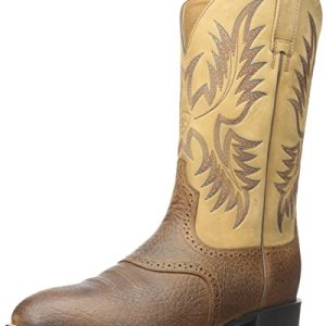 Ariat Men's Heritage Stockman Western Boot, Tumbled Brown/Beige