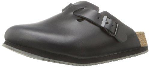 Birkenstock Unisex Professional Boston Super Grip Leather Slip Resistant Work Shoe,Black,39 M EU