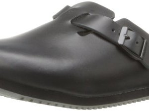Birkenstock Unisex Professional Boston Super Grip Leather Slip Resistant Work Shoe,Black,39 M EU