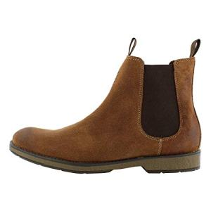 CLARKS Men's Hinman Chelsea Boot, Dark tan Suede