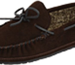 Minnetonka Men's Casey Slipper Chocolate Suede