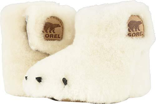 Sorel Kids Unisex Bear Paw Slipper (Infant) Sea Salt/Beach