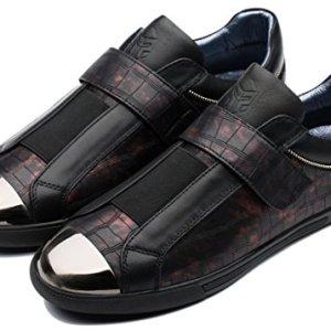 OPP Men's Classic Hook and Loop Leather Sneaker