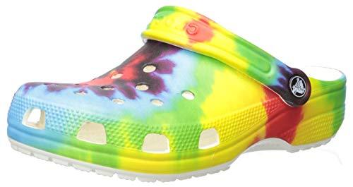 Crocs Kids' Classic Tie-Dye Graphic Clog   Casual Water or Beach Shoe