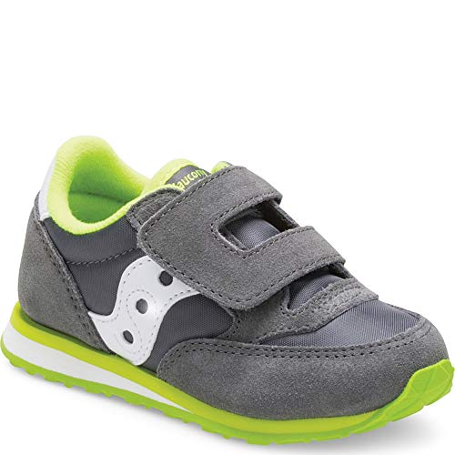 Saucony Boys' Baby Jazz HL Sneaker, Grey/White Saucony Boys' Baby Jazz HL Sneaker, Grey/White, 7.5 Medium US Toddler.