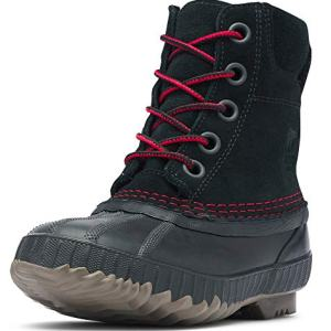 Sorel Boys' Youth Cheyanne II Lace Chukka Boot, Black, Mountain red