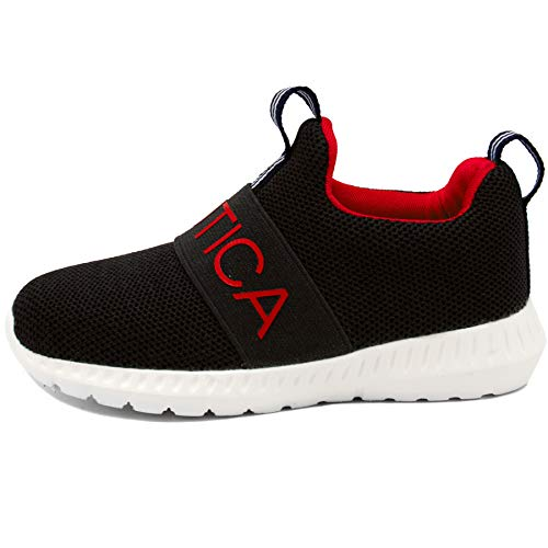 Nautica Kids Boys Fashion Sneaker Athletic Running Shoe-Mattoon Nautica Kids Boys Fashion Sneaker Athletic Running Shoe-Mattoon-Black Knit-11.