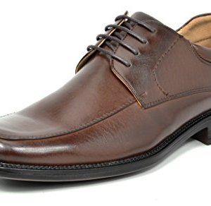Bruno Marc Men's Dark Brown Square Toe Classic Business Dress Shoes
