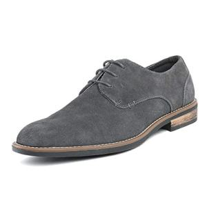 Bruno Marc Men's Grey Suede Leather Lace Up Oxfords Shoes