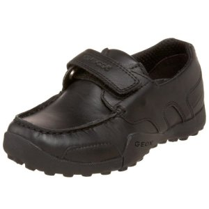 Geox Boys W.Snake Mocassino Hook-and-Loop Shoe, black oxford