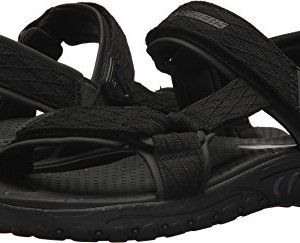 Skechers Mens Relaxed Fit Reggae Tulo Black