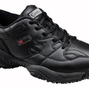 Skidbuster Men's Leather Comfort Slip Resistant Athletic Shoe