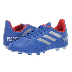 adidas Unisex-Kid's Predator 19.4 Firm Ground, Bold Blue/Silver