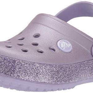 Crocs Kid's Glitter Clog, Lavender