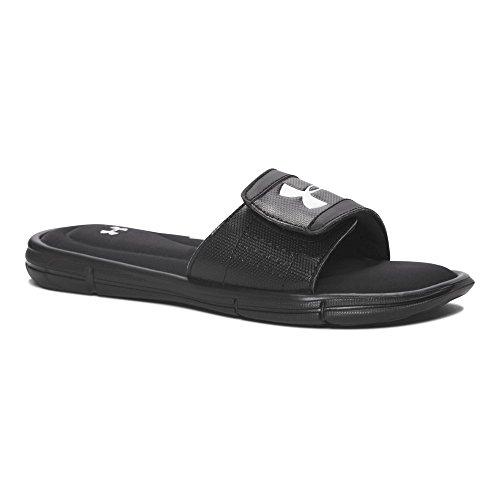 Under Armour Boy's, Ignite V Slide Sandal Black/White