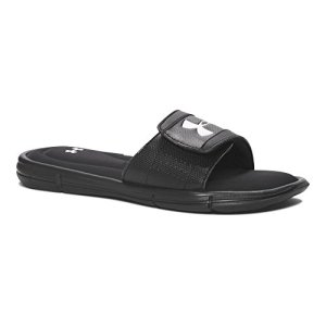 Under Armour Boy's, Ignite V Slide Sandal Black/White