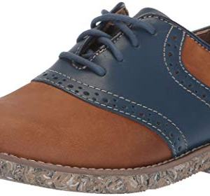 Florsheim Kids Boys' Kennett Jr II Oxford, Brown/Navy