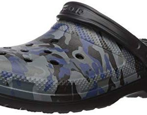 Crocs Women's Classic Lined Graphic II Clog, Camo/Black