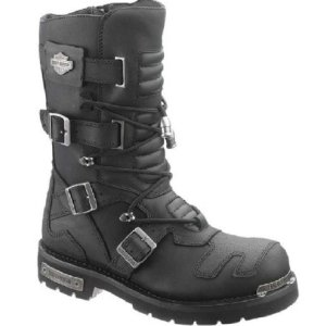 Harley-Davidson Men's Axel 10-Inch Black Motorcycle Boots