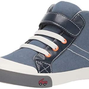 See Kai Run Boy's Dane Sneaker, Blue/Orange