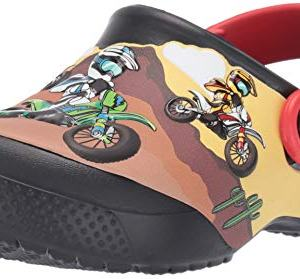 Crocs Kids' Fun Lab Motorsport Clog, Black, 13 M US Little Kid