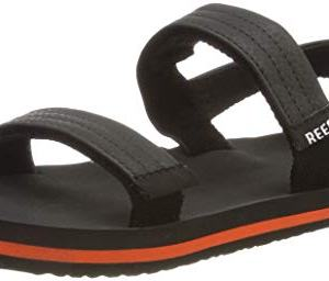 Reef Boys AHI Convertible Sandal, Grey/Orange
