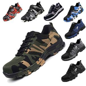 JACKSHIBO Steel Toe Work Shoes for Men Women Safety Shoes
