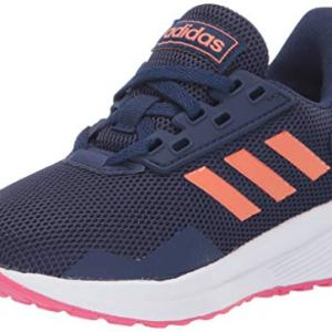 adidas Unisex-Kid's Duramo 9 Running Shoe, Dark Blue/Semi Coral/Real