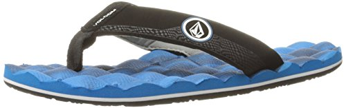 Volcom Boys' Recliner Big Youth FLIP Flop Sandal, Marina Blue