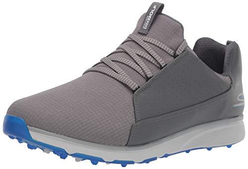 Skechers Men's Mojo Waterproof Golf Shoe, Charcoal/Blue Textile