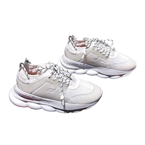 YGSMOUhao Womens Medusa Ultra Lightweight Chain Reaction Sneakers