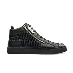 Men's Casual High Top Sneaker Snake Skin