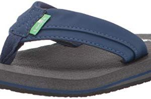 Sanuk Kids Boy's Root Beer Cozy Light Sandal, Navy