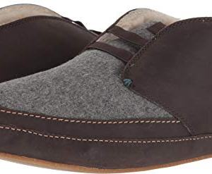 OLUKAI Men's Moloa Slipper Mid Dark Roast/Dark Roast