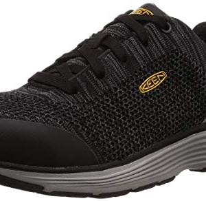 KEEN Utility Men's Sparta Industrial Shoe, Black/Grey Flannel