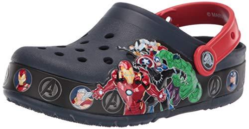 Crocs Kids' Fun Lab Marvel Light-Up Clog, Navy