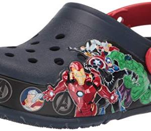 Crocs Kids' Fun Lab Marvel Light-Up Clog, Navy