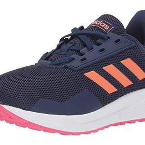adidas Unisex Duramo 9 Running Shoe, Dark Blue/Semi Coral/Real Pink