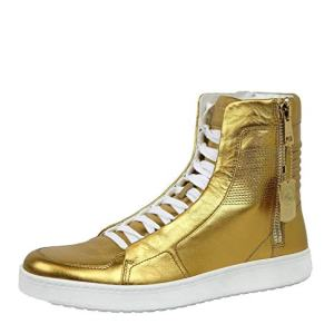 Gucci Men's Gold Leather Limited Edition High-top Sneakers
