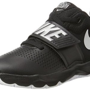 Nike Boys' Team Hustle D 8 (GS) Basketball Shoe, Black/Metallic Silver