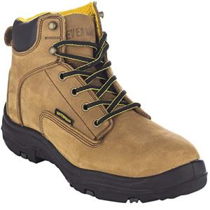 EVER BOOTS Men's Premium Leather Waterproof Work Boots Insulated Rubber