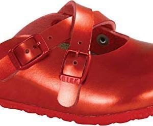 Birkenstock Dorian Kids Clogs, Soft Metallic Red